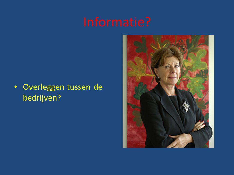 Informatie Overleggen tussen de bedrijven