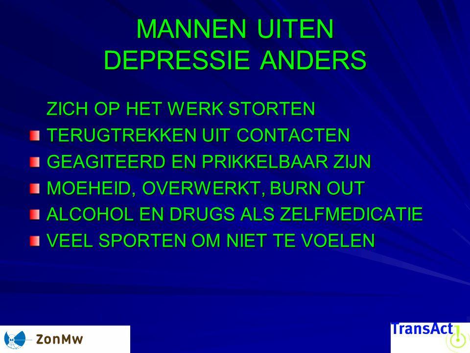 MANNEN UITEN DEPRESSIE ANDERS