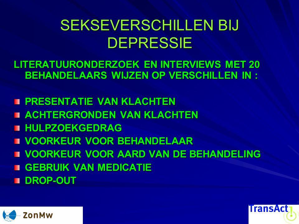 SEKSEVERSCHILLEN BIJ DEPRESSIE