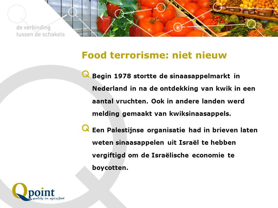 Food terrorisme: niet nieuw