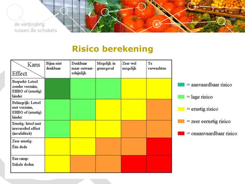 Risico berekening 12-02-2013