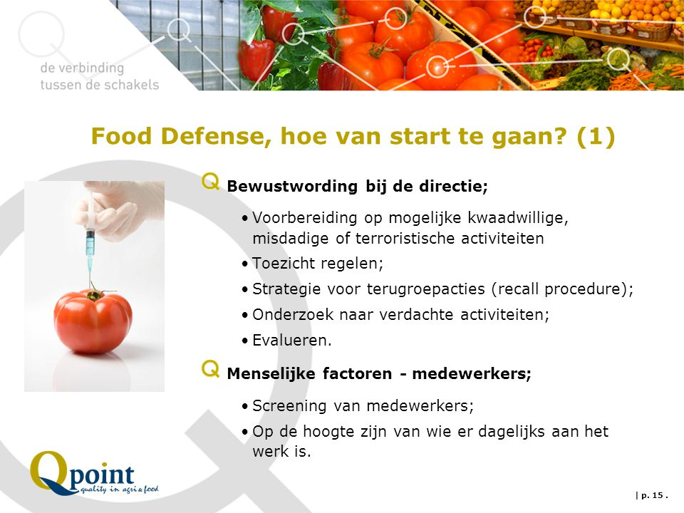 Food Defense, hoe van start te gaan (1)