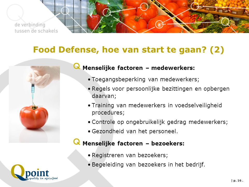 Food Defense, hoe van start te gaan (2)