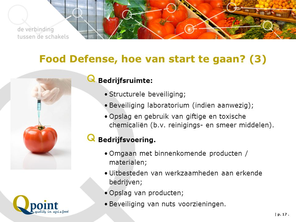 Food Defense, hoe van start te gaan (3)