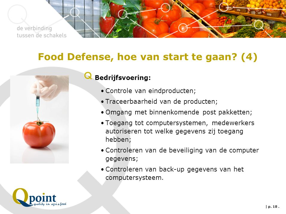 Food Defense, hoe van start te gaan (4)
