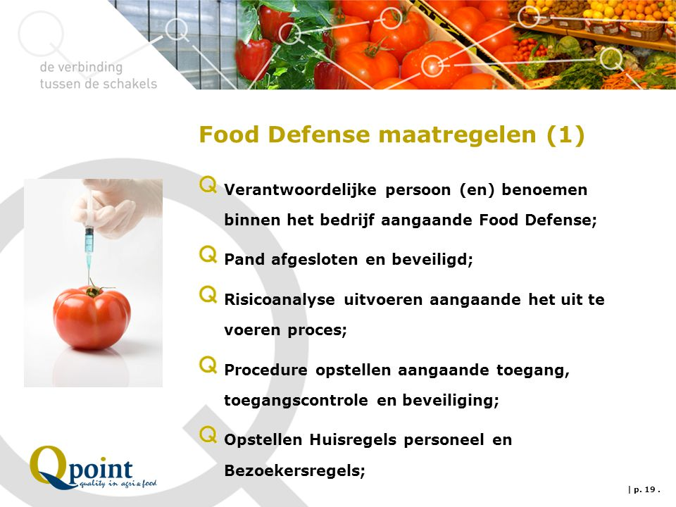 Food Defense maatregelen (1)
