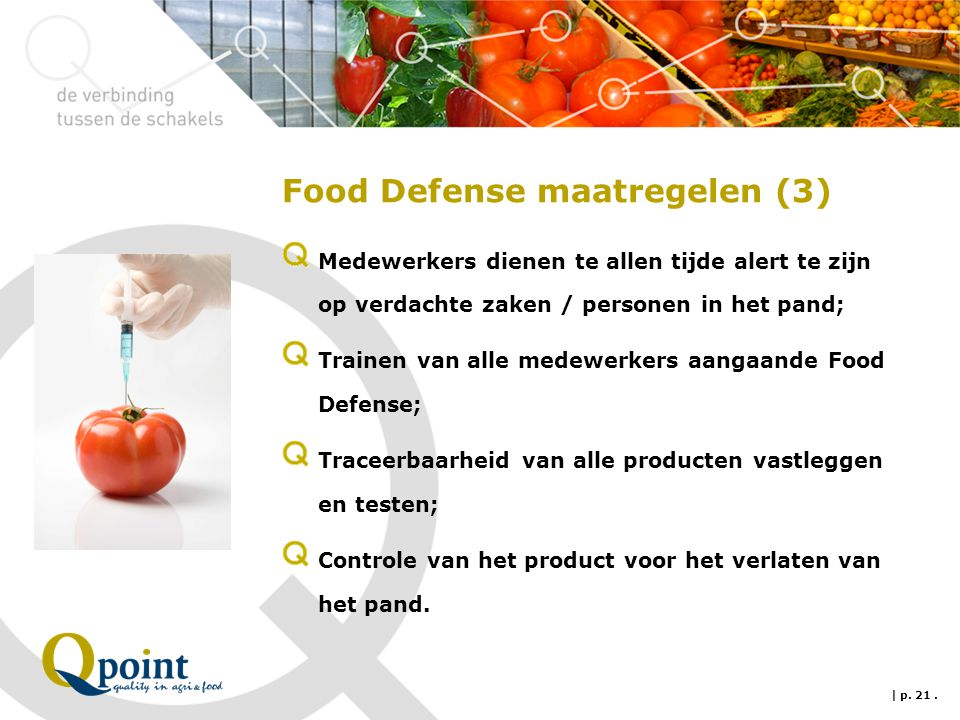 Food Defense maatregelen (3)