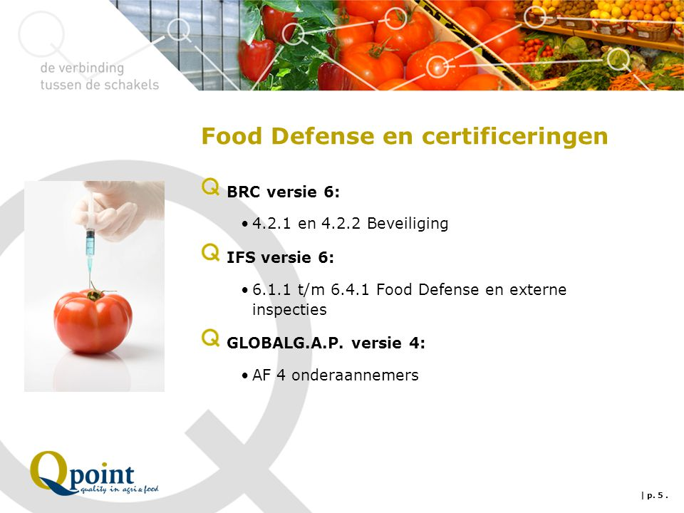 Food Defense en certificeringen