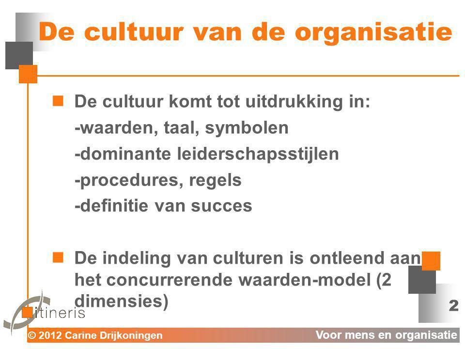 De cultuur van de organisatie
