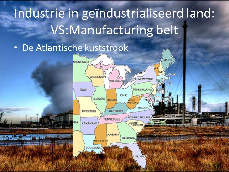 Industrie in geïndustrialiseerd land: VS:Manufacturing belt