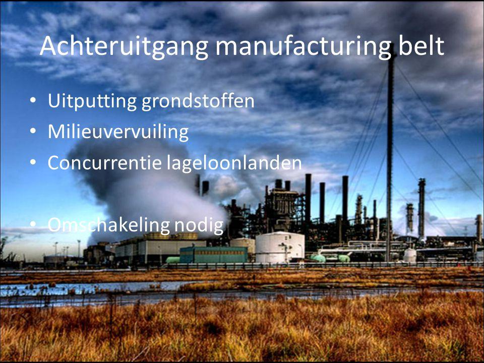 Achteruitgang manufacturing belt