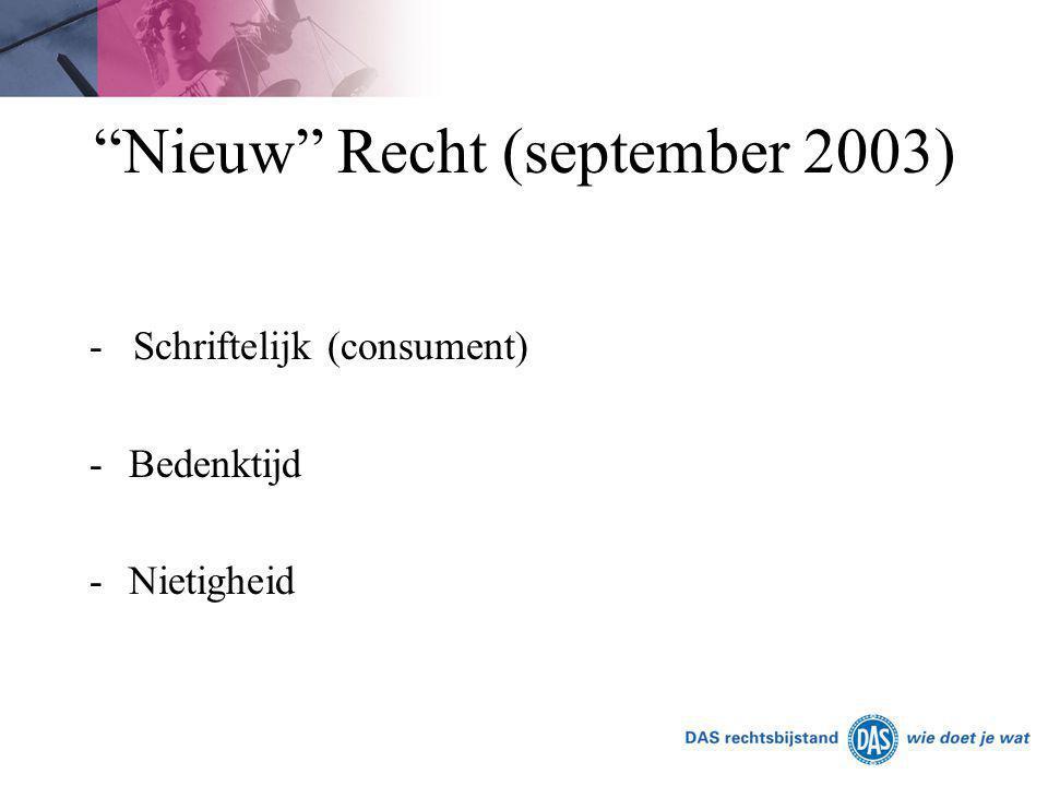 Nieuw Recht (september 2003)