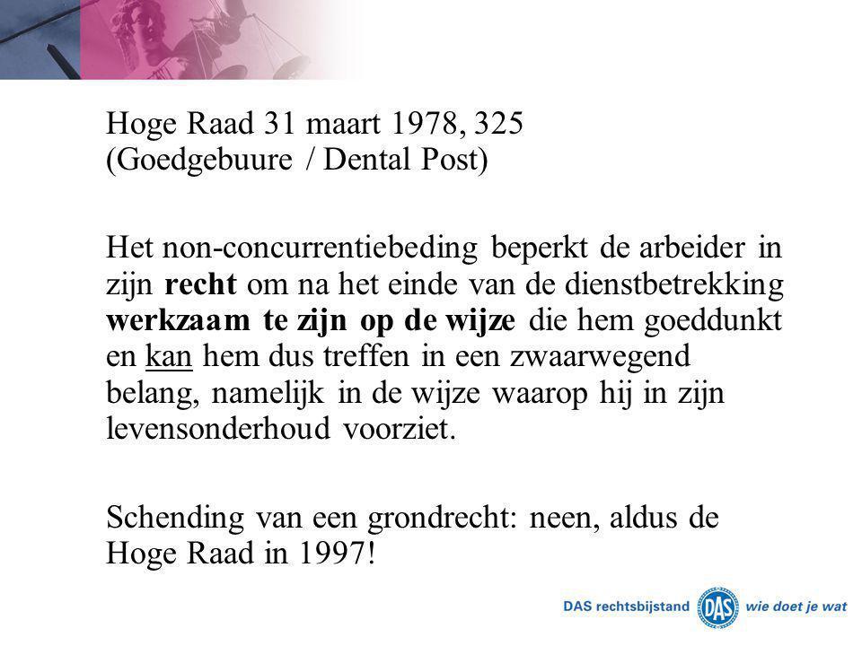 Schending van een grondrecht: neen, aldus de Hoge Raad in 1997!