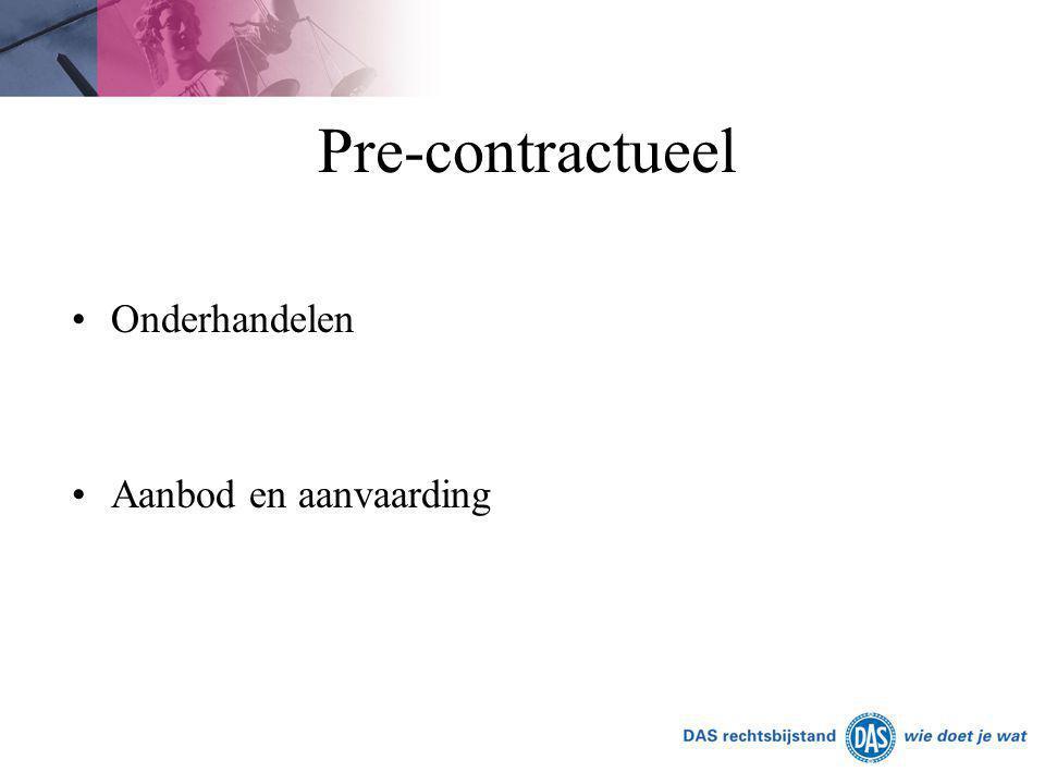 Pre-contractueel Onderhandelen Aanbod en aanvaarding