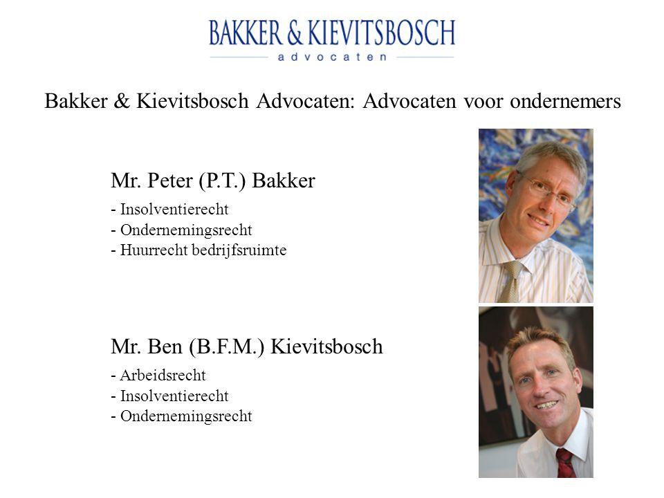 Bakker & Kievitsbosch Advocaten: Advocaten voor ondernemers