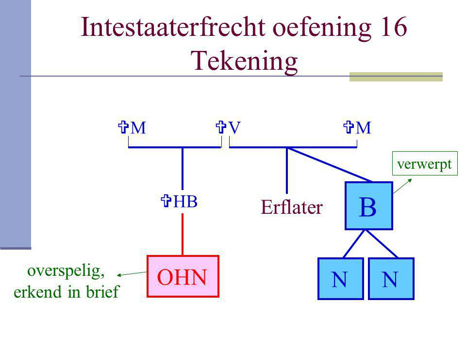 Intestaaterfrecht oefening 16 Tekening