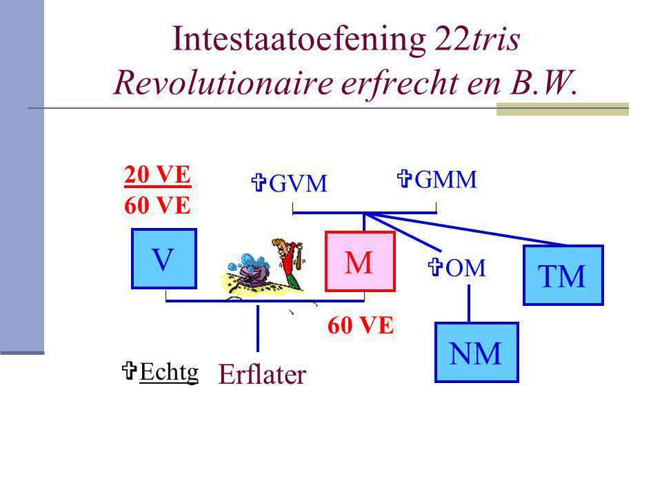 Intestaatoefening 22tris Revolutionaire erfrecht en B.W.