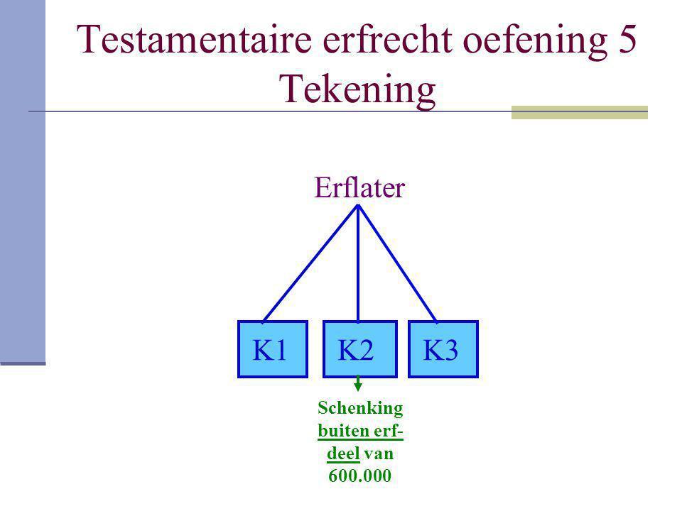 Testamentaire erfrecht oefening 5 Tekening