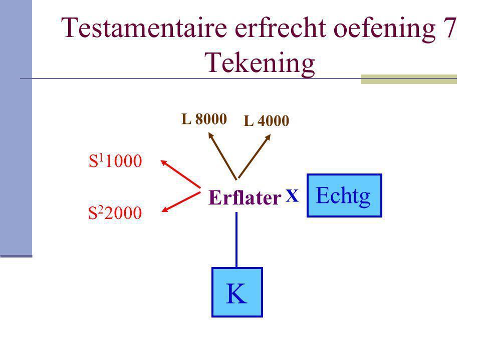 Testamentaire erfrecht oefening 7 Tekening