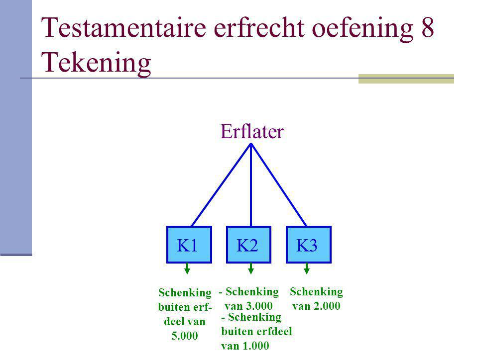 Testamentaire erfrecht oefening 8 Tekening
