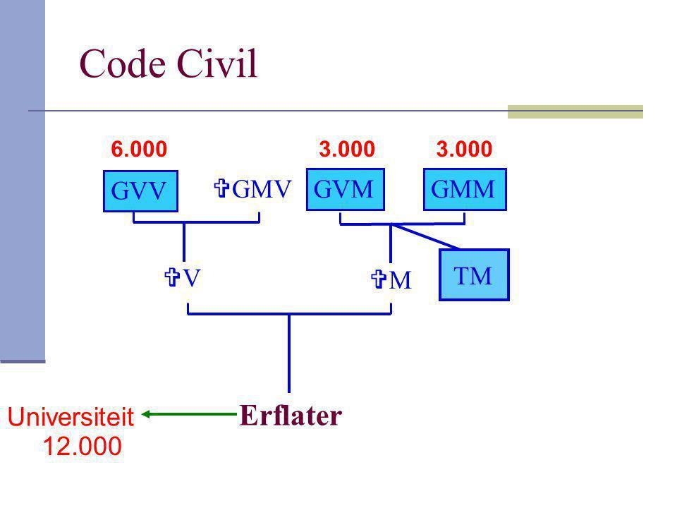 Code Civil Erflater GVV GMV GVM GMM TM V M Universiteit 12.000 6.000
