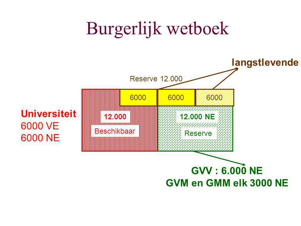 Burgerlijk wetboek langstlevende Universiteit 6000 VE 6000 NE