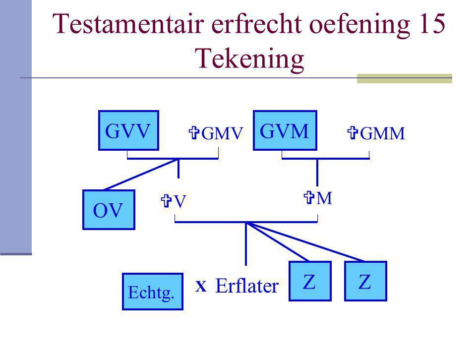 Testamentair erfrecht oefening 15 Tekening