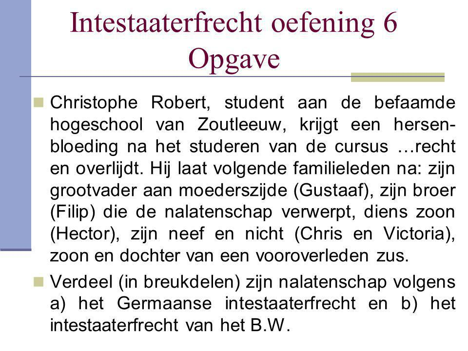 Intestaaterfrecht oefening 6 Opgave