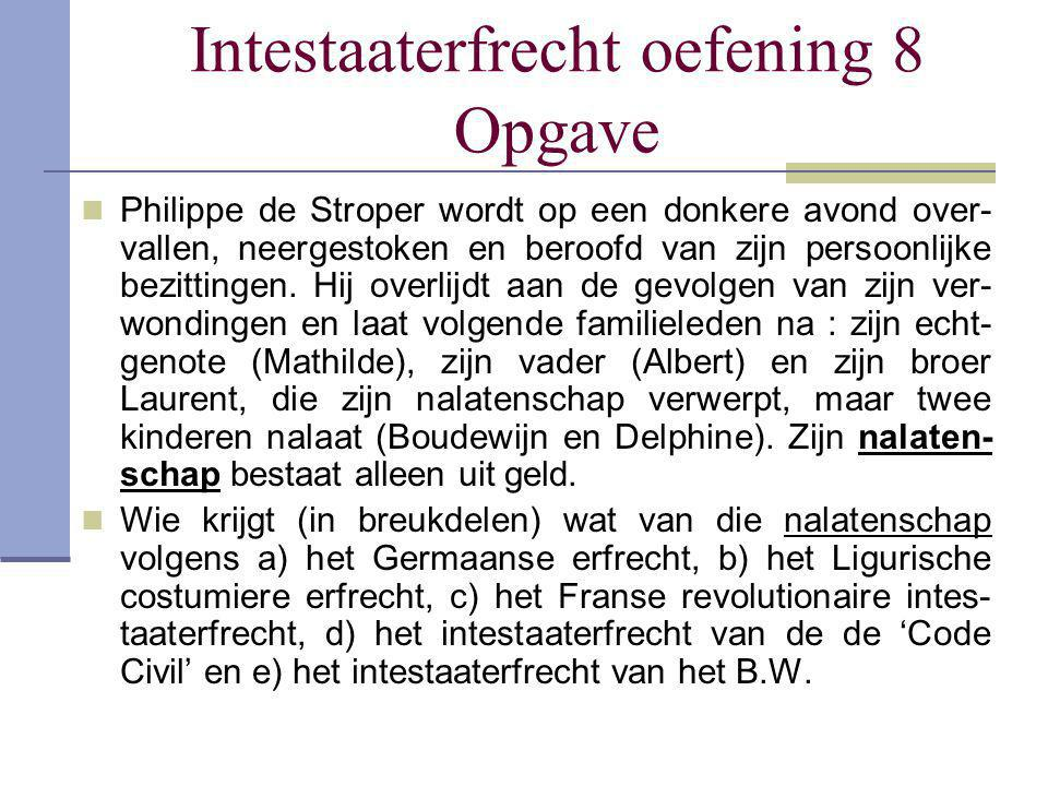 Intestaaterfrecht oefening 8 Opgave