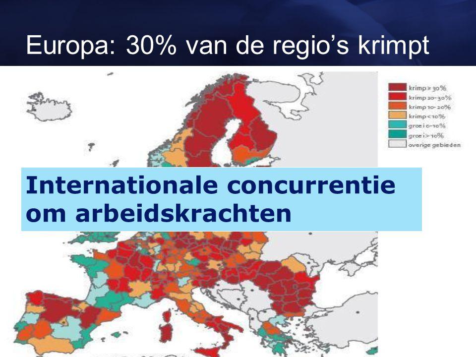 Europa: 30% van de regio's krimpt