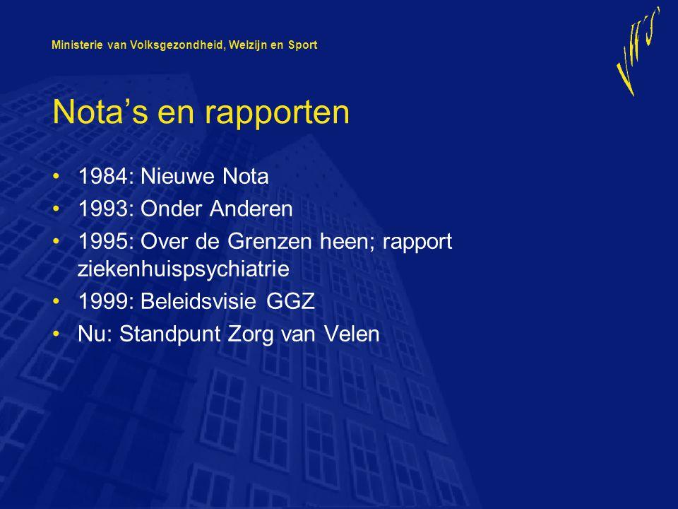 Nota's en rapporten 1984: Nieuwe Nota 1993: Onder Anderen