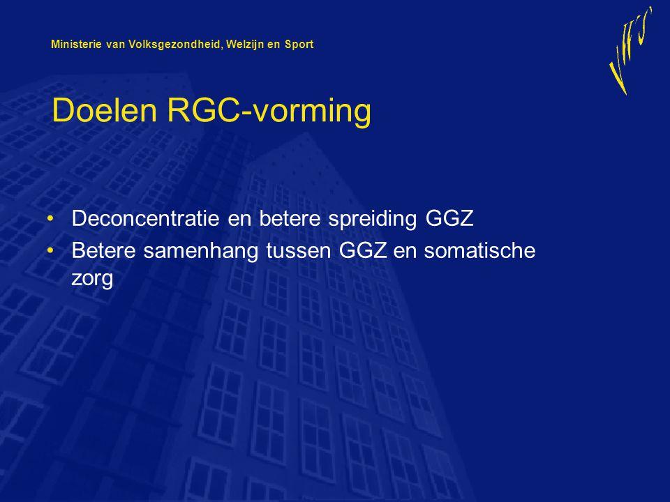 Doelen RGC-vorming Deconcentratie en betere spreiding GGZ
