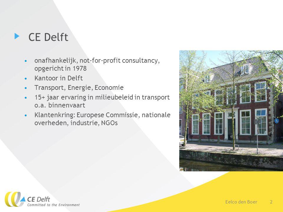 CE Delft onafhankelijk, not-for-profit consultancy, opgericht in 1978