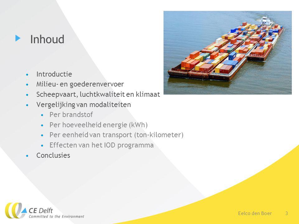 Inhoud Introductie Milieu- en goederenvervoer