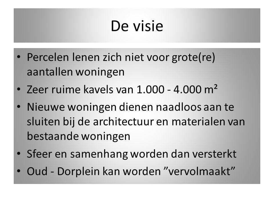 De visie Percelen lenen zich niet voor grote(re) aantallen woningen