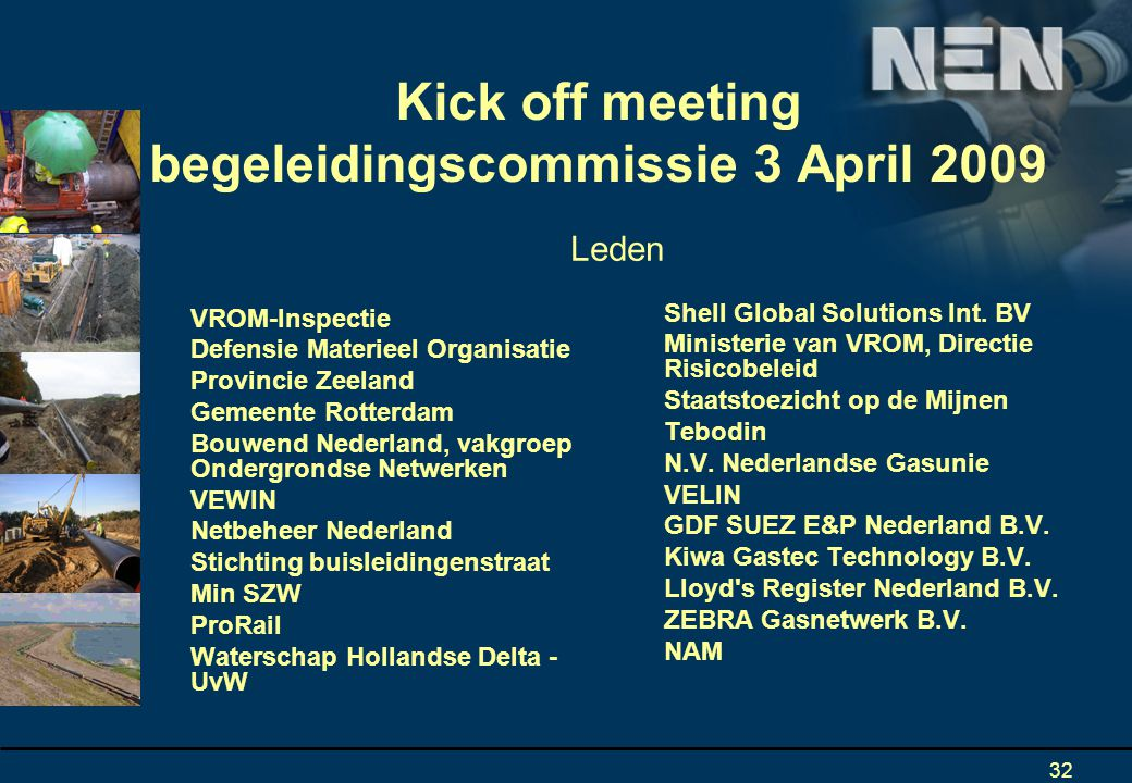Kick off meeting begeleidingscommissie 3 April 2009