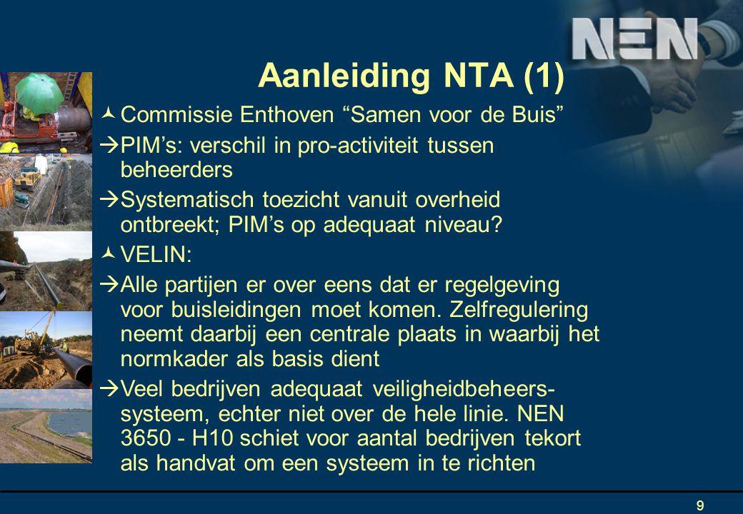 Aanleiding NTA (1) Commissie Enthoven Samen voor de Buis