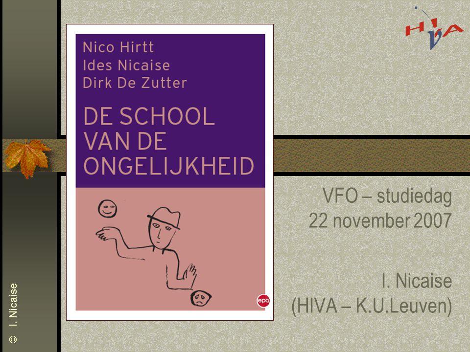 VFO – studiedag 22 november 2007 I. Nicaise (HIVA – K.U.Leuven)