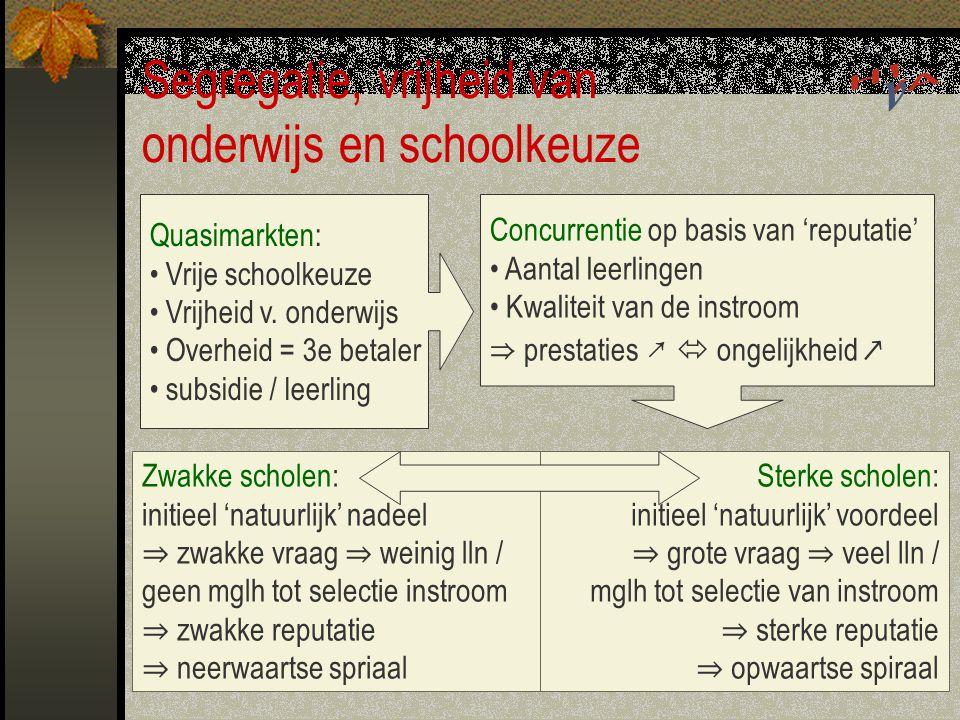 Segregatie, vrijheid van onderwijs en schoolkeuze