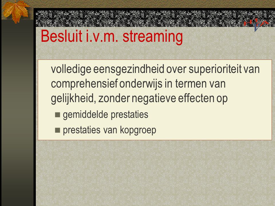 Besluit i.v.m. streaming