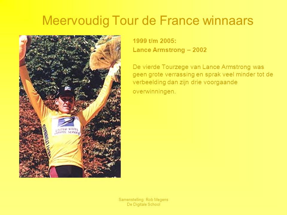 Meervoudig Tour de France winnaars