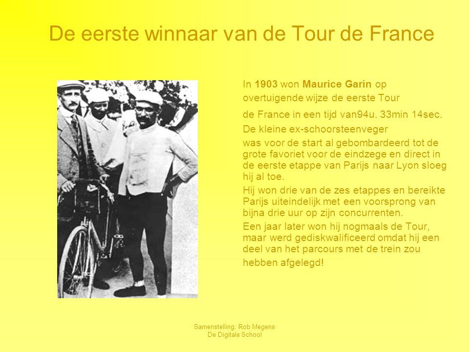De eerste winnaar van de Tour de France