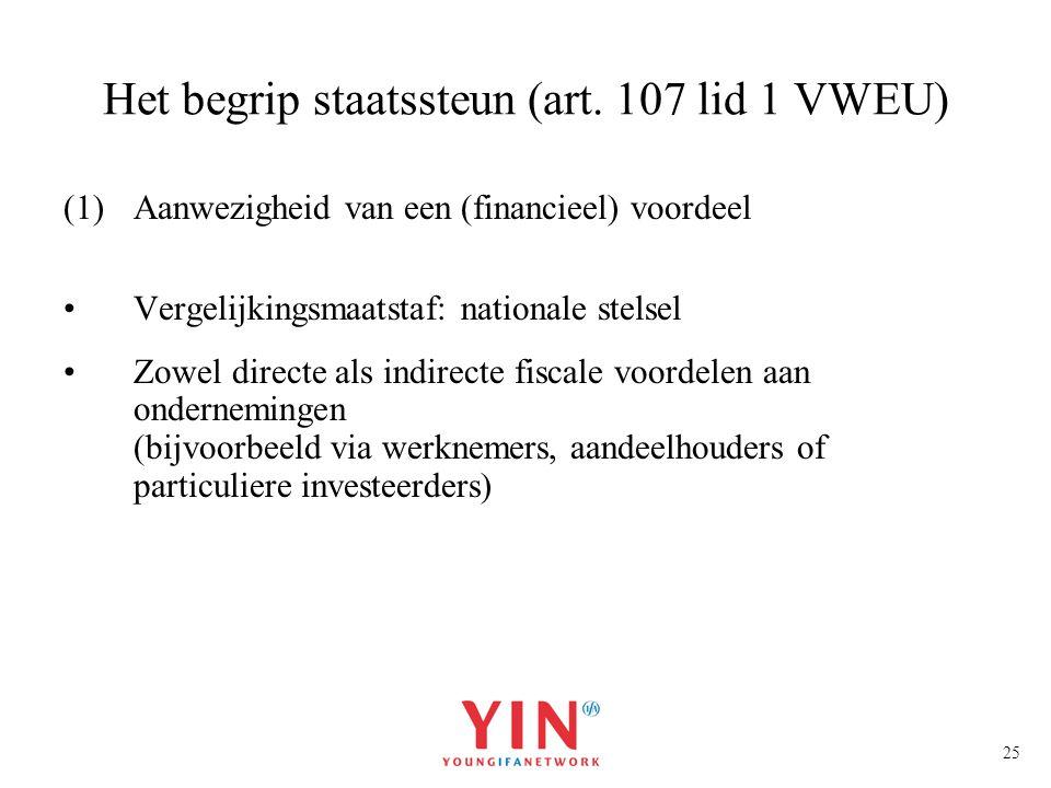 Het begrip staatssteun (art. 107 lid 1 VWEU)