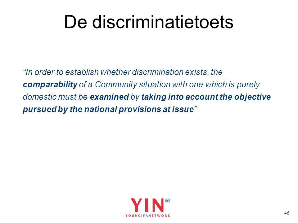 De discriminatietoets