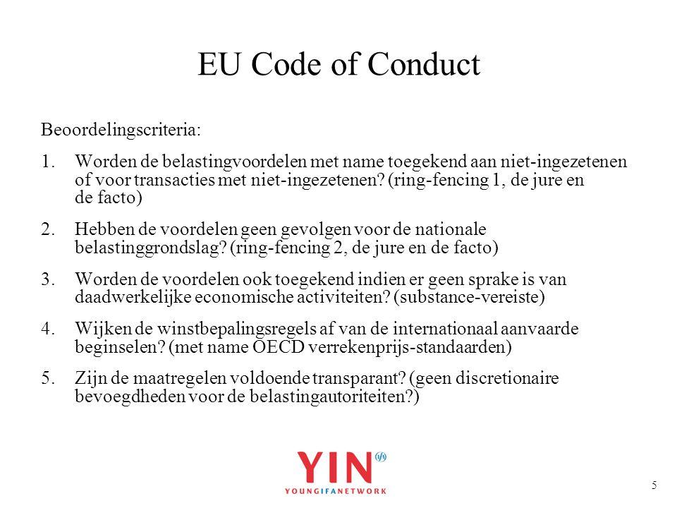 EU Code of Conduct Beoordelingscriteria: