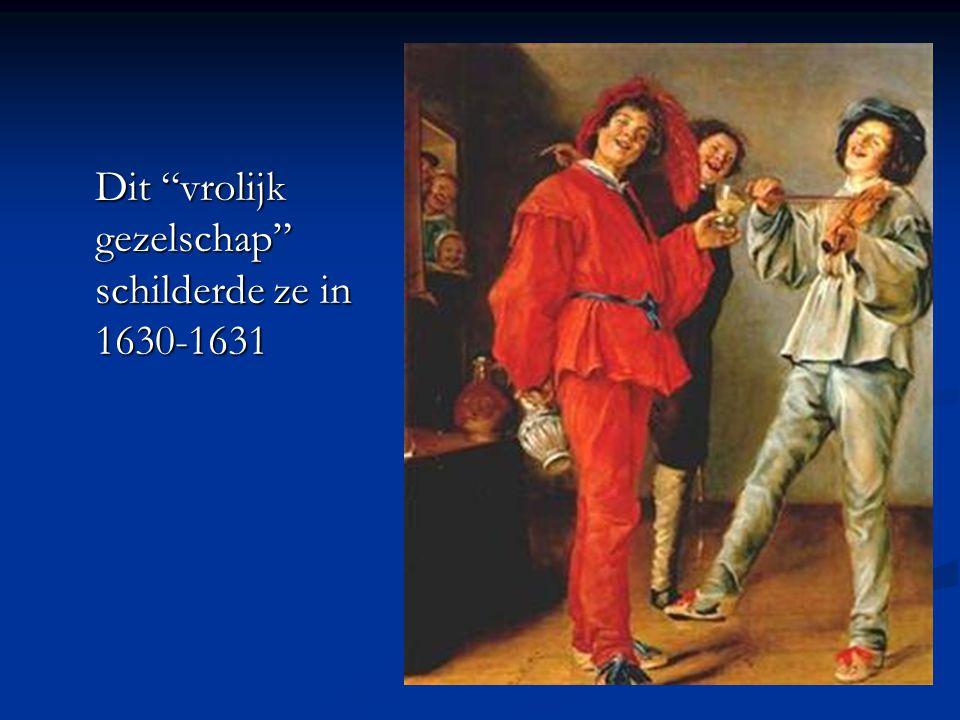 Dit vrolijk gezelschap schilderde ze in 1630-1631