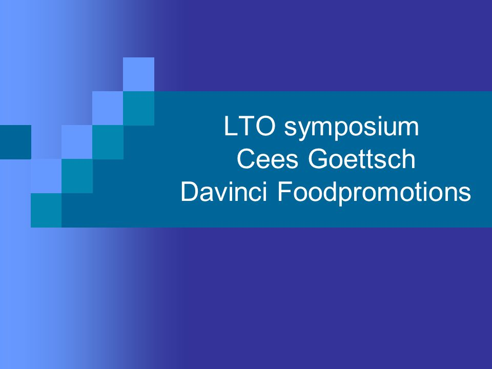 LTO symposium Cees Goettsch Davinci Foodpromotions