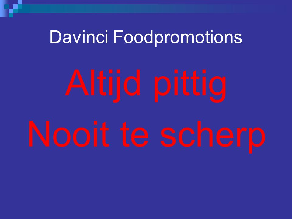 Davinci Foodpromotions