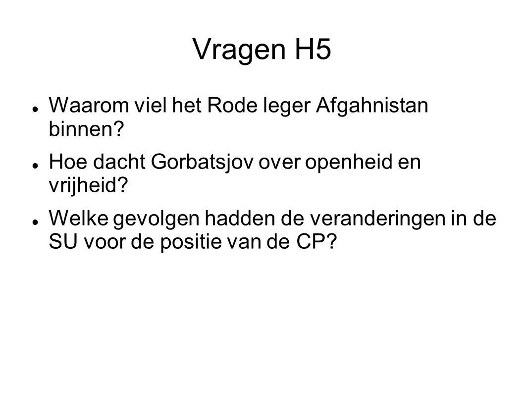 Vragen H5 Waarom viel het Rode leger Afgahnistan binnen