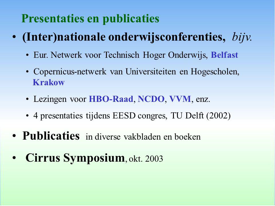 Presentaties en publicaties